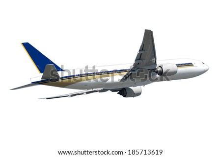 Big jumbo plane isolated on a white background. - stock photo