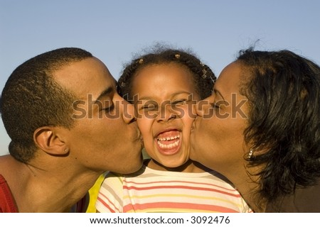 Big kiss, funny expression, lots of love