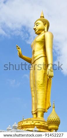 Big Lord Buddha, Hat-Yai, Songkhal, Thailand - stock photo