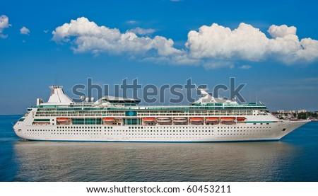 Big luxury cruise ship - stock photo