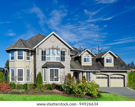 Big luxury home in suburbs of Vancouver, Canada - stock photo