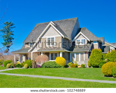 Big luxury  home in the suburbs of  Vancouver, Canada - stock photo