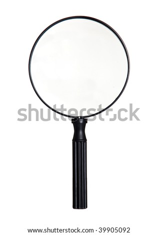 Big magnifier isolated on a white background - stock photo