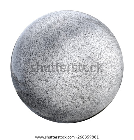Big marble ball isolated on white background - stock photo