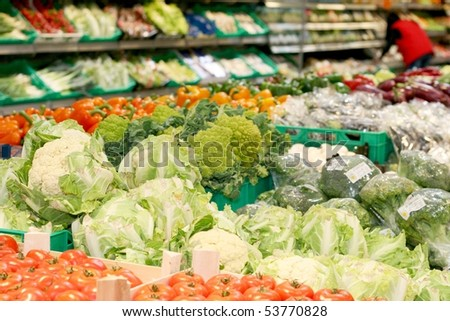 Big market for fresh vegetable
