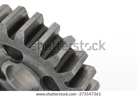 Big metal gear on the white background. - stock photo