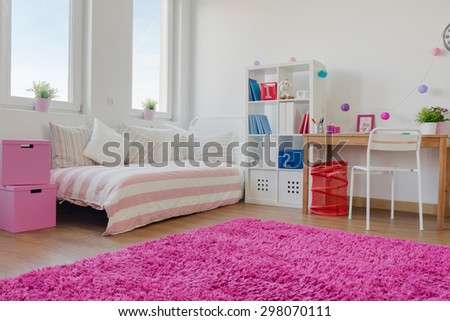Big modern designed space for little children - stock photo