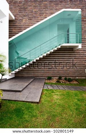 Big modern house - stock photo