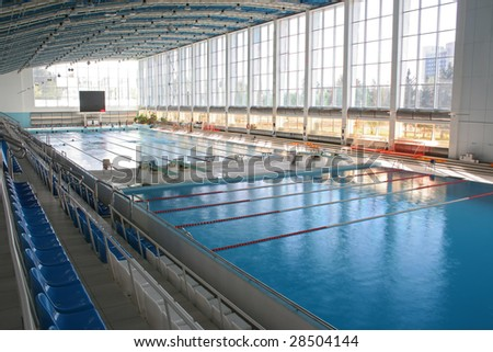 Big modern swimming pool - stock photo