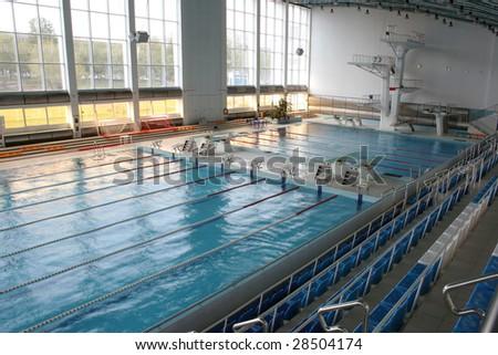 Big modern swimming pool - stock photo