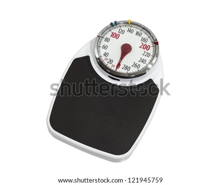 Big old family home scale isolated with clipping path. - stock photo