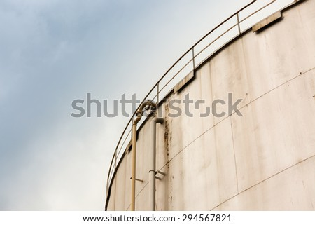 Big old fuel tank - stock photo