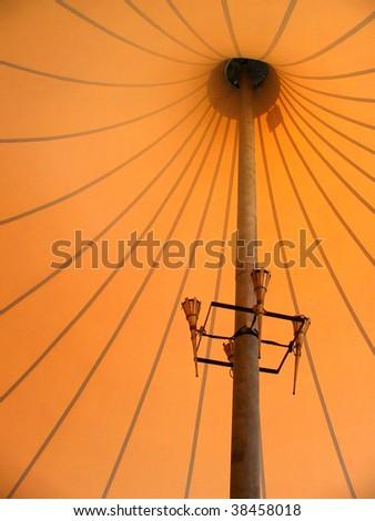 inside circus tent bac...