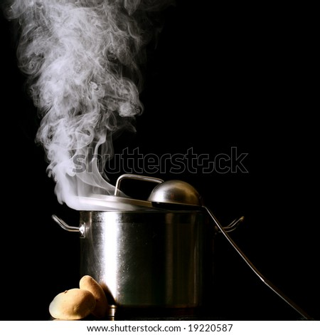 big pan - stock photo