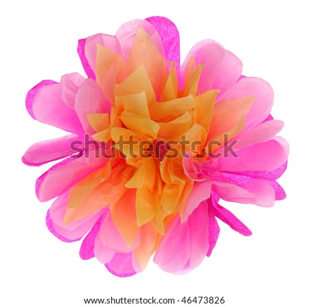 Big Paper Peony Flower - stock photo