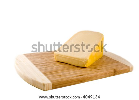 big piece of yellow dutch cheese