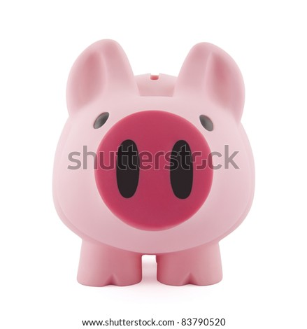 Big piggy bank with clipping path - stock photo