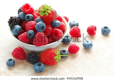 Big Pile of Fresh Berries - stock photo