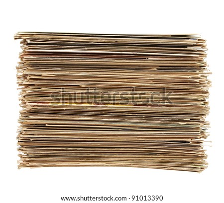 Big pile of old letters and postcards, useful to illustrate spam or mail correspondence - stock photo