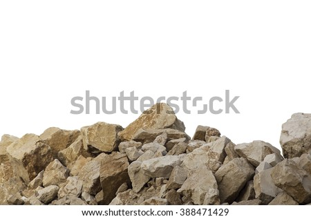 Big pile of rocks. Obstacles, boulders - stock photo