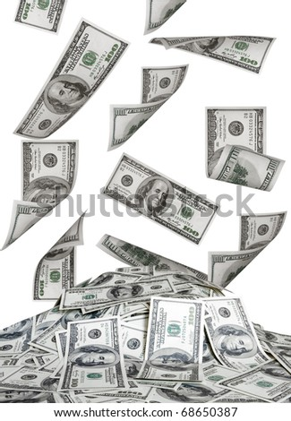 big pile of the money. dollars usa - stock photo