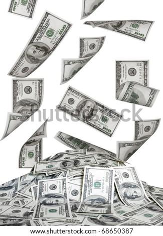 big pile of the money. dollars usa - stock photo