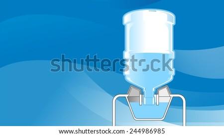 big plastic bottle of water illustration - stock photo