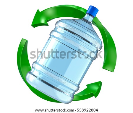 Big Plastic Gallon Bottle Office Water Stock Illustration 558922804