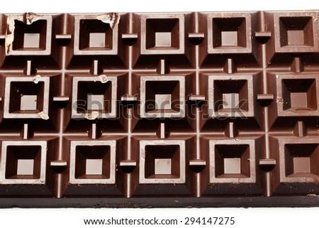 Big plate of chocolate - stock photo