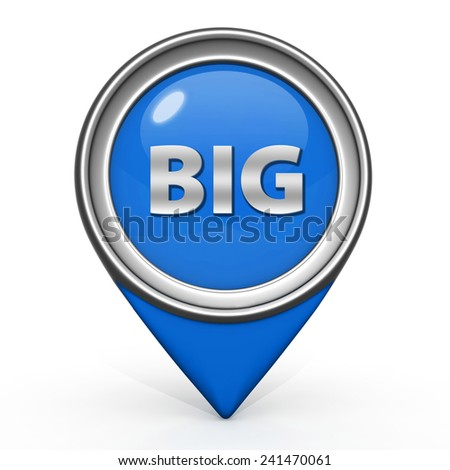 Big pointer icon on white background