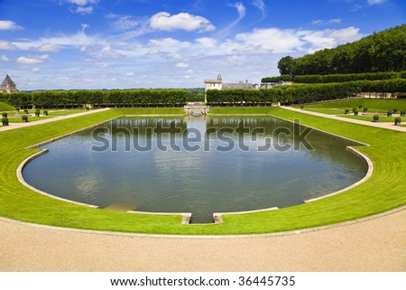 Big pond from Villandry chateau, France