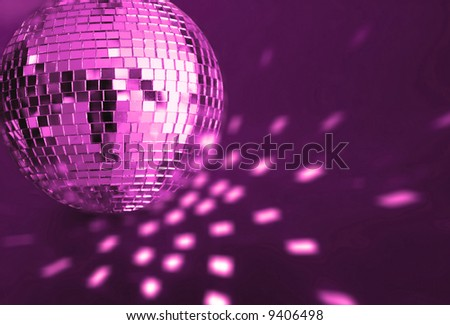 big purple  disco ball - stock photo
