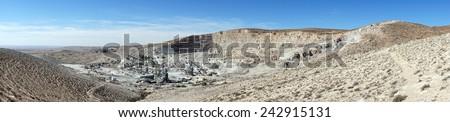 Big quarry near Drejat village in Isel                                - stock photo