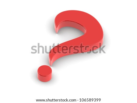 Big Question - stock photo