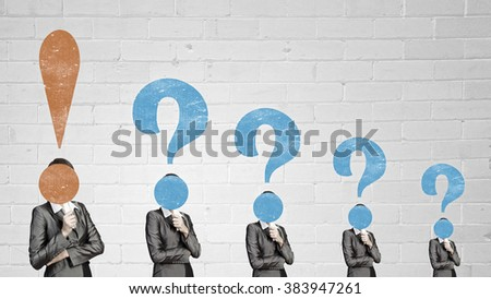 Big question in head - stock photo