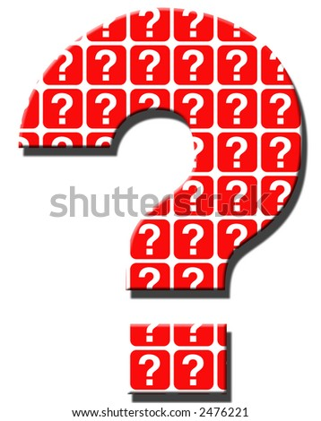 Big Question Mark - stock photo