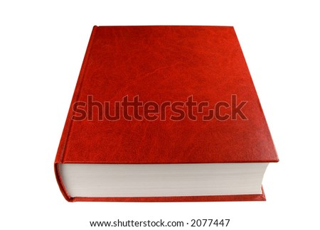 big red book, isolated on white, clipping path included