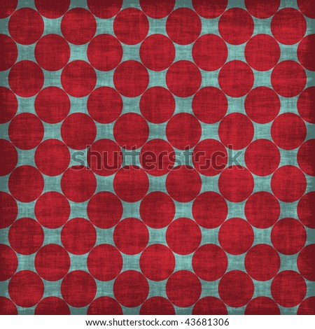 Big Red Polka Dot Distressed Paper - stock photo