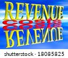 Big Revenue Small Costs Text with Reflection at Day Blue - stock photo