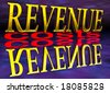 Big Revenue Small Costs Text with Reflection at Night Purple - stock photo