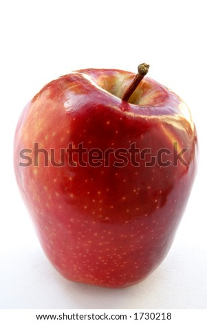 Big ripe red apple - stock photo