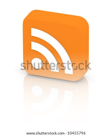 big rss icon with reflection