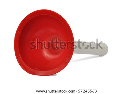 Big rubber plunger isolated on white background