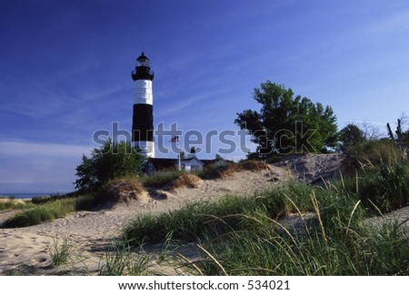 Big Sable Point Lighthouse on Lake Michigan in  Michigan.