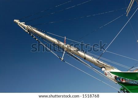 Big sailing ship in hamburg, germany. - stock photo