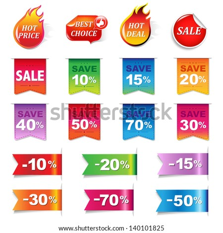 Big Sale Colorful Labels Set