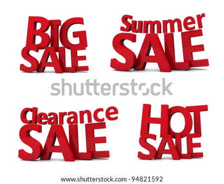 Big sale 3d isolated over white background - stock photo