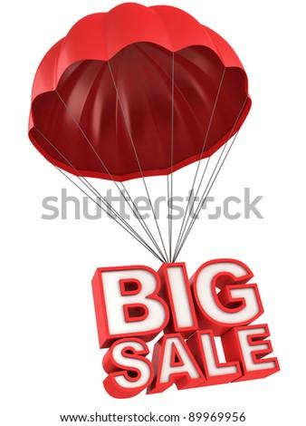 big sale 3d letters on parachute - stock photo