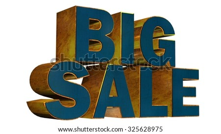 Big Sale - 3D Text