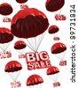 big sale - discount 3d concept - stock photo